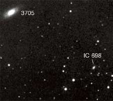 NGC 3705 and nearby galaxies.