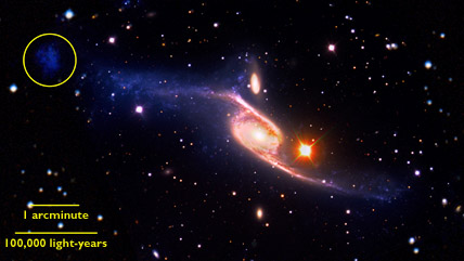 NGC 6872, the largest spiral galaxy