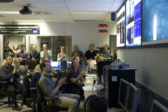 New Horizons team at launch