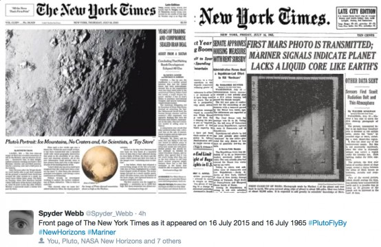 NYT front pages 2015 and 1965