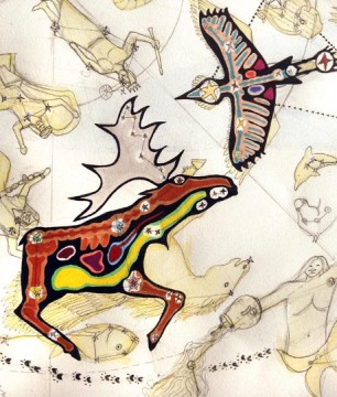 Moose and Crane provide symbolize practical needs and inner spirit
