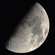 Moon at first quarter