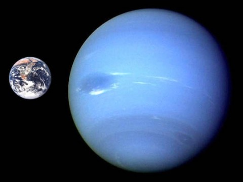 Neptune and Earth compared