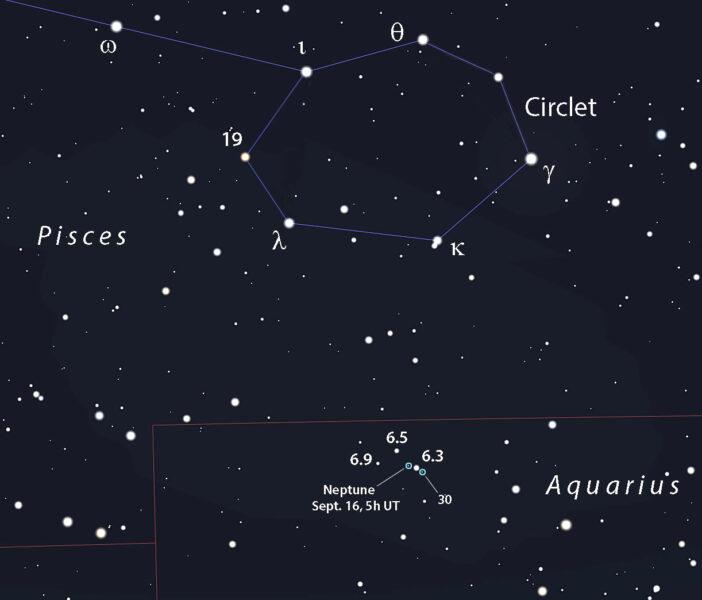 Neptune September map