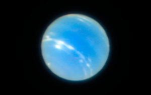 Sharpest ground-based image of Neptune