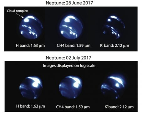 Image of huge storm raging on Neptune