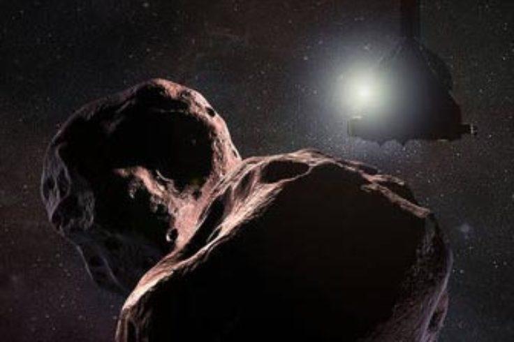 New Hoirizons and 2014 MU69 artwork