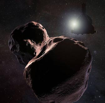 New Hoirizons and 2014 MU69 artwork