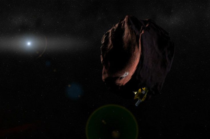 Illustration of New Horizons flying by Ultima Thule