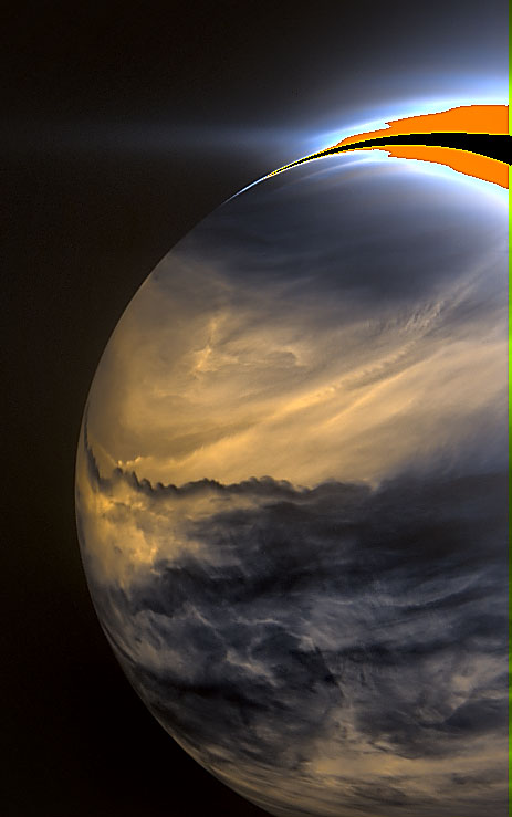 Nightside of Venus in infrared