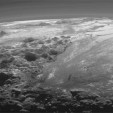 Dramatic panorama of Pluto