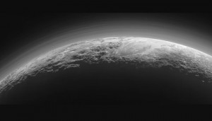 Panorama of crescent Pluto