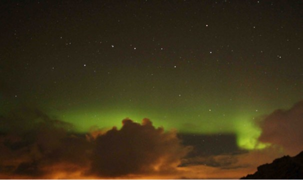 Northern Lights below Big Dipper