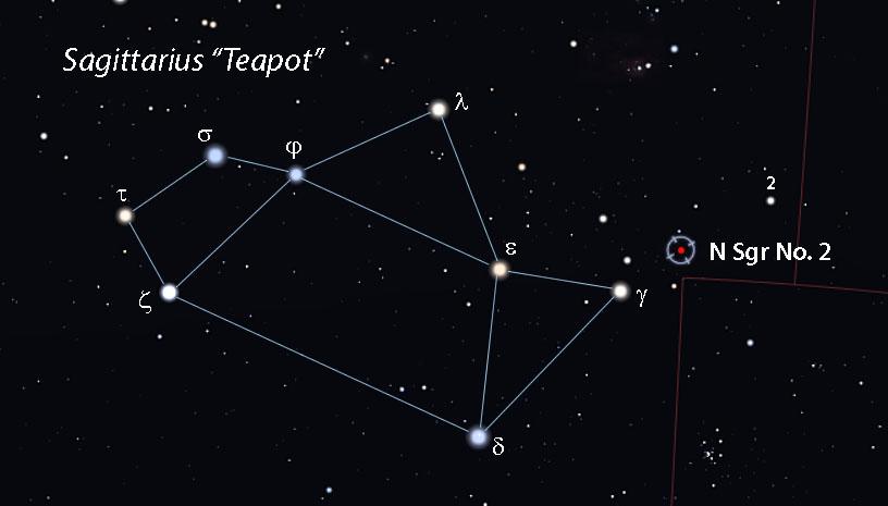 Nova Sgr No. 2 2021 - Stellarium-map