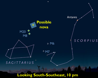 Finder chart for nova in Sagittarius