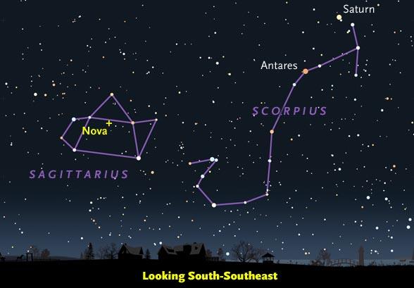 Finder chart for Nova in Sagittarius, March 2015