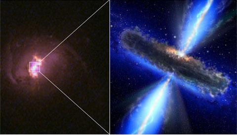 Hidden Quasar, artist's concept
