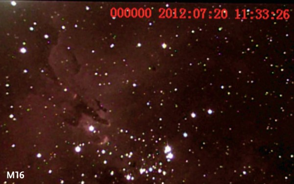 M16 imaged with astrovideo camera