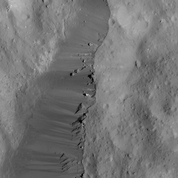 Eastern rim of Occator Crater