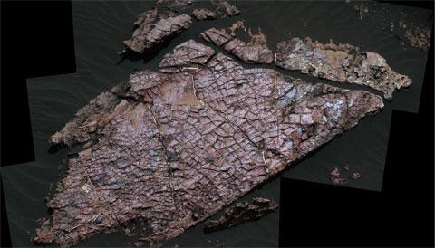 """Old Soaker"" rock slab on Mars"