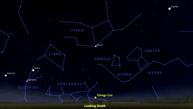 Omega Centauri finder chart