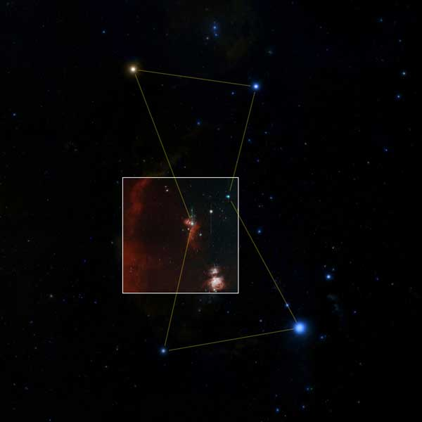 Zwicky Transient Facility first-light image in context in Orion