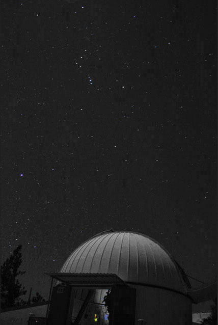 Orion over Mexican dome