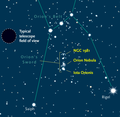 How to find the Orion Nebula