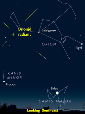 How to see Orionid meteors