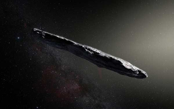 Interstellar object `Oumuamua