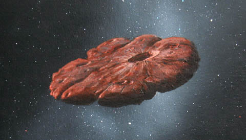 Oumuamua painting by Hartmann