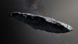 Portrayal of 'Oumuamua (1I/2017 U1)