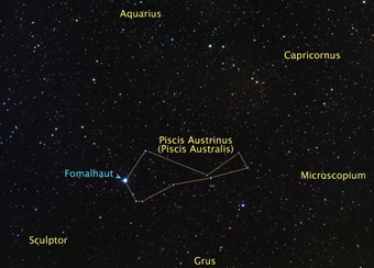 Fomalhaut sky map
