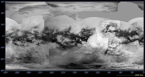 global map of Saturn's moon Titan