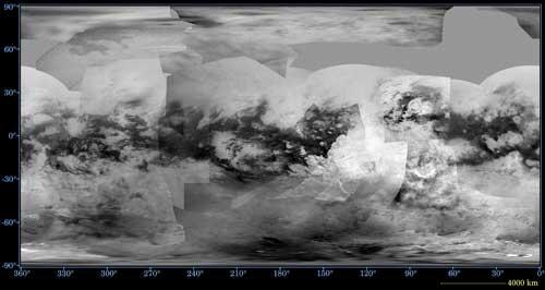 global map of Saturn's moon Titan