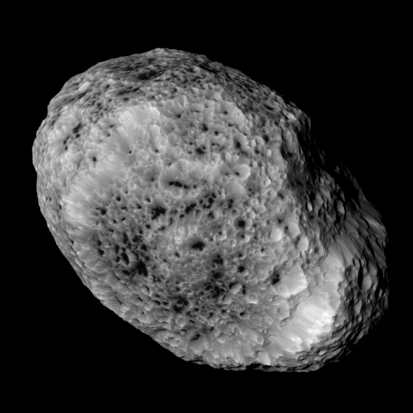 Hyperion, a moon of Saturn