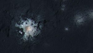 bright spot on Ceres, enhanced color
