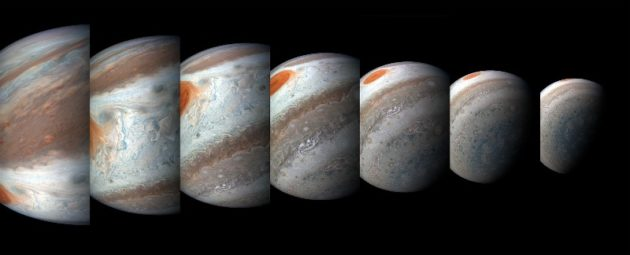 Montage of Jupiter images from Juno