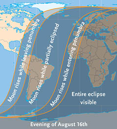 Viewing area for August's lunar eclipse