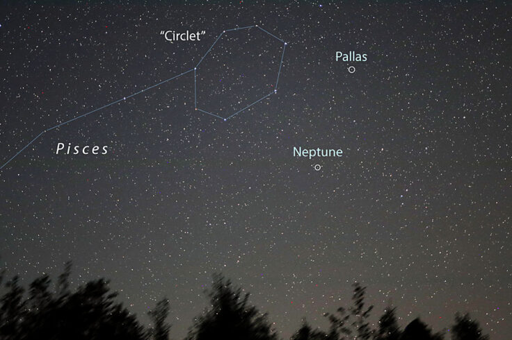 Pallas and Neptune time exposre