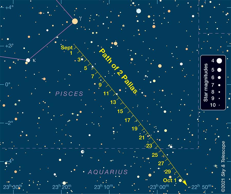 Pallas finder chart