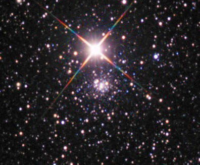 Bright Cluster Beats The Glare
