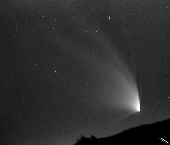 Comet PanSTARRS on March 19, 2013 (enhanced)