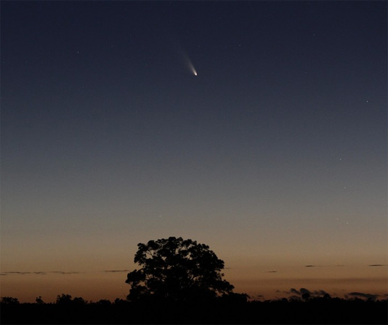 Comet PanSTARRS from Australia on March 3, 2013