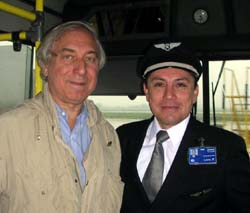 Jay Pasachoff and LAN pilot