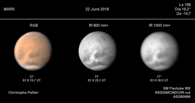 Amateur astronomer Christophe Pellier images Mars