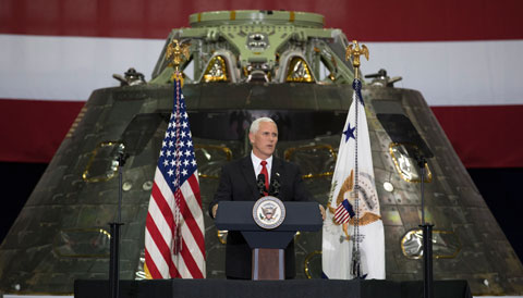 Vice President Mike Pence at the Kennedy Space Center