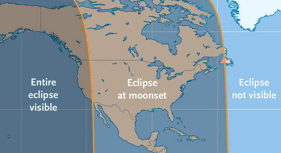 Penumbral eclipse visibility on March 23, 2016