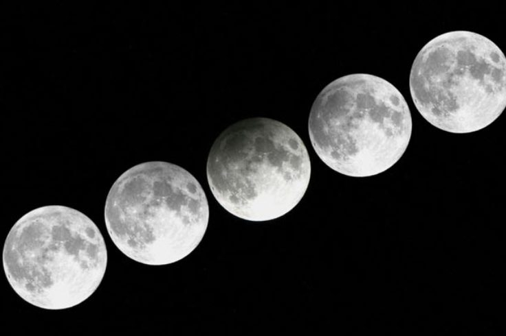 Penumbral eclipse series from 2012