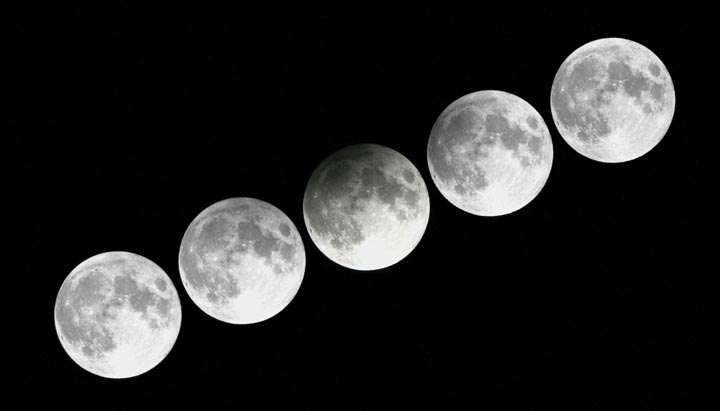 Penumbral lunar eclipse series from 2012